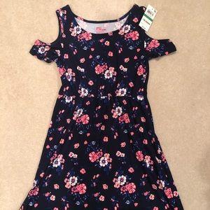 Epic Threads girls Navy flower dress Large NWT